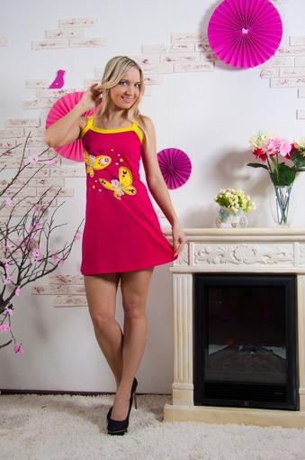 Сорочка Бабочки (розовый)