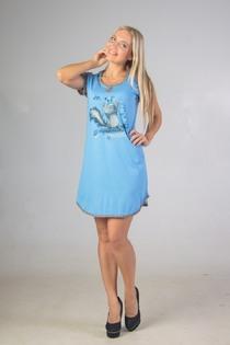Сорочка Music (голубой)