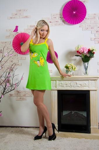 Сорочка Бабочки (зеленый)