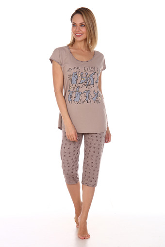 Пижама Мыши Бриджи (бежевый)