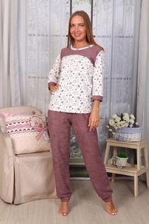 Пижама Мишки брюки (бежевый)