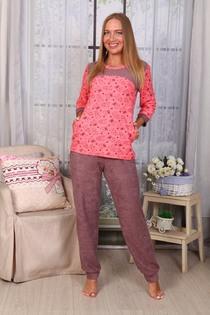Пижама Мишки брюки (розовый)