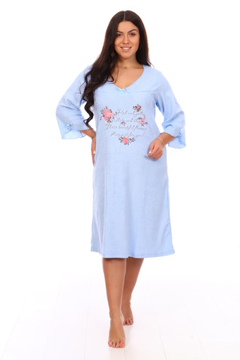 Сорочка Лада (голубой)