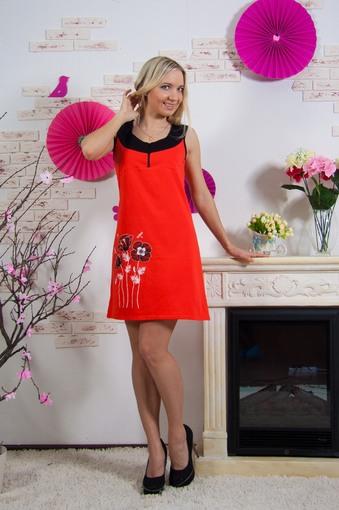 Платье Маки (оранжевый)
