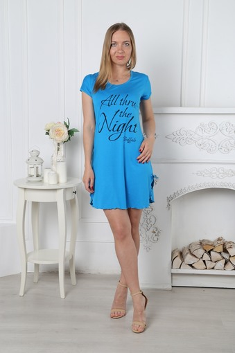 Сорочка Найт (бирюзовый)