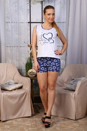 Пижама Сердца (синий)