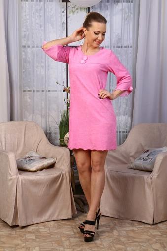 Сорочка Махра (розовый)